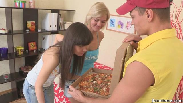 Shirley Harris Blowjob for an extra sausage pizza