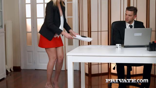 Aria Logan - Blonde Secretary Aria Logan Sucks Her Bosss