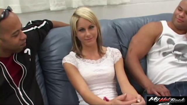 Courtney Simpson face changes while massive black rod penetrates her shaved twat